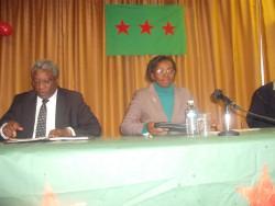 Eugène Ndahayo et Victoire Ingabire le 9-10-2010 à Bruxelles