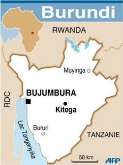 Carte du Burundi/photo AFP