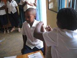 séance de vaccination