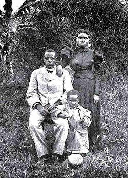 John-Chilembwe, sa femme Ida et leur fille Emma