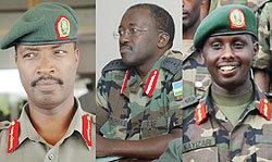 Les officiers du FPR Kayonga, Muhire, Kayizari