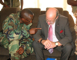 Laurent Nkunda et Louis Michel - décembre 2008