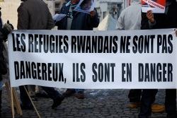 Photo de la manifestation anti-Kagame lors de sa visite à Bruxelles en décembre 2010