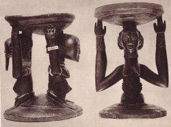 Sièges sculptés Bakuba - Musée du Congo belge