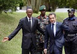 Kagame et Sarkozy à Kigali en février 201O