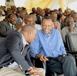 James Musoni et Paul Kagame