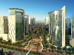 Un des immeubles du master plan de Kigali