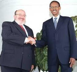 Louis Michel et Paul Kagame