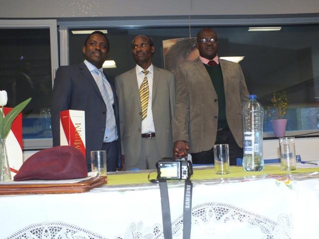 de gauche à  adroite : Eric Bahembera, Joseph Bukeye, Emmanuel Mwiseneza