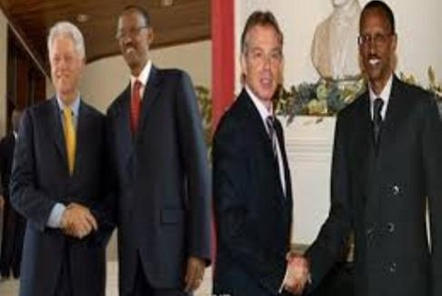 Bill Clinton - Paul Kagame -Tony Blair