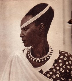 Emma- Bakayishonga, fille du roi Musinga,/Photo Grands Lacs-avril 1950