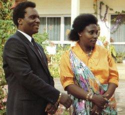 Juvénal Habyarimana et son épouse Agathe Kanziga