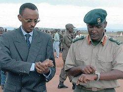 Les généraux Paul Kagame et Kayumba Nyamwasa